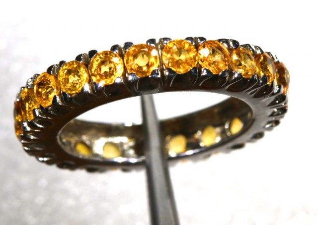 20 CTS CITRINE SILVER RING SG-2464