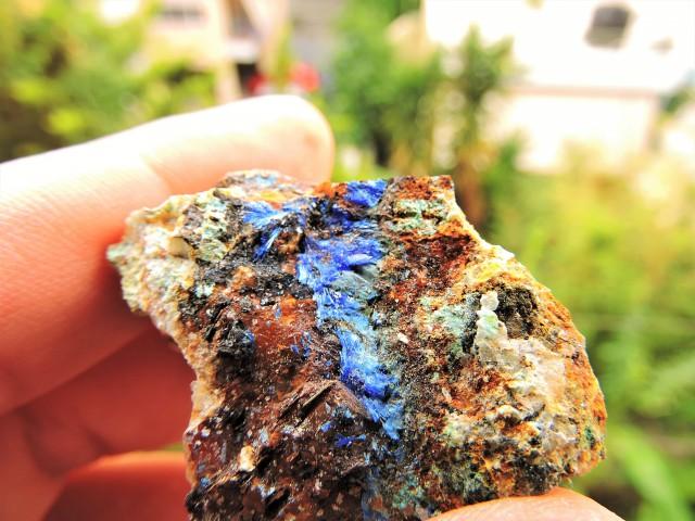 41.42g  LINARITE SPECIMEN ELECTRIC BLUE KING ARTHUR MINE THRACE GREECE TS44