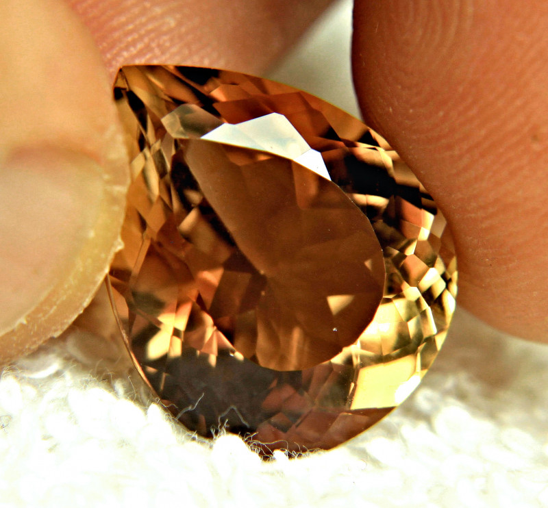 16.67 Carat Golden VVS Brazil Topaz Pear - Gorgeous