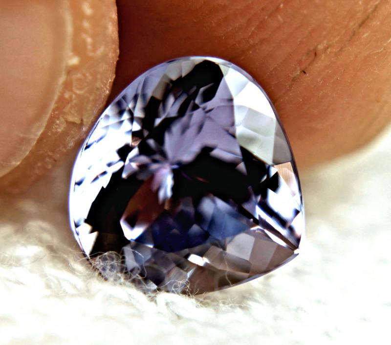 CERTIFIED - 3.90 Carat IF/VVS1 Purplish Blue African Tanzanite