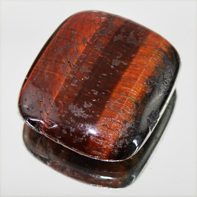 Genuine 39.50 Cts Red Power Tiger Eye Cab
