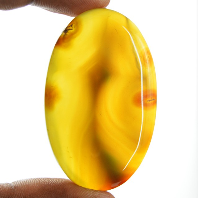 Genuine 97.70 Cts Oval Shape Yellow Onyx Cab