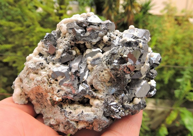 584g GALENA CALCITE PYRITE MIXED SPECIMEN MADAN FIELD BULGARIA D167