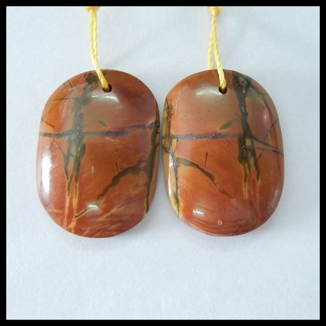 Natural Muti Color Picasso Jasper Earrings,24x17x6mm,36ct(17060310)