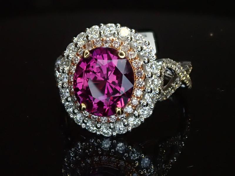 3.36ct Purple Sapphire Ring