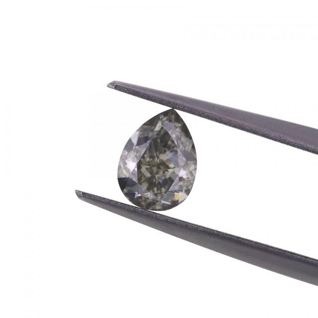 1.02 ct. Fancy Grey Pear shape Diamond.
