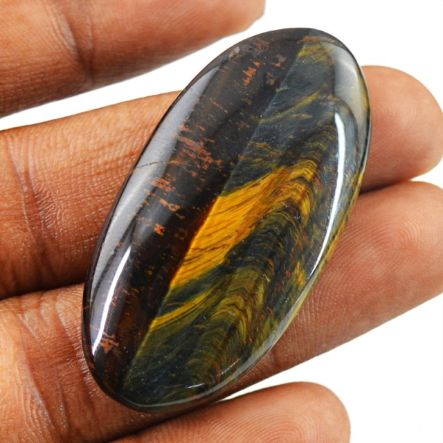 Genuine 46.50 Cts Untreated Golden Tiger Eye Cab