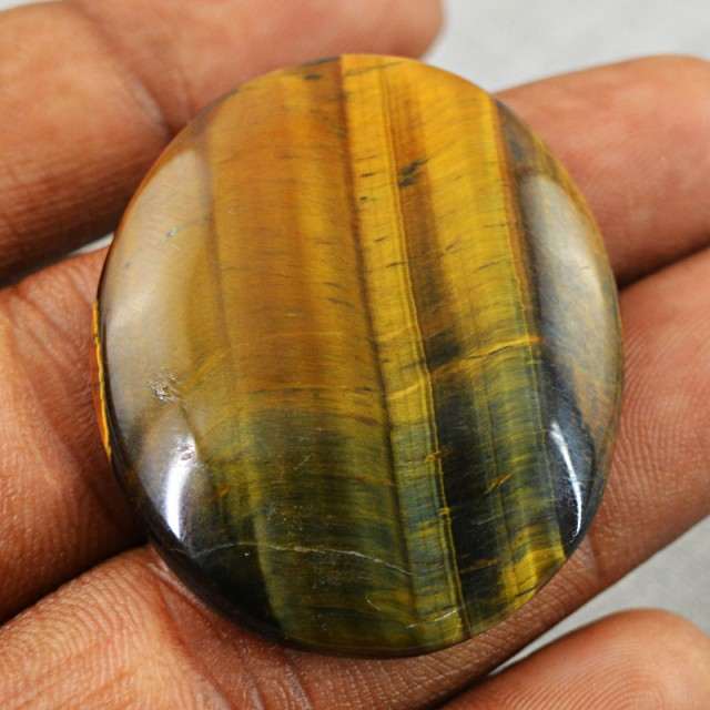 Genuine 50.50 Cts Golden Tiger Eye Untreated Cab