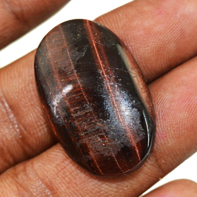 Genuine 26.50 Cts Red Power Tiger Eye Cab