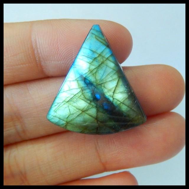 Natural Labradorite,Lapis Lazuli Intarsia Pendant Bead,25x21x7mm,24.5ct(170
