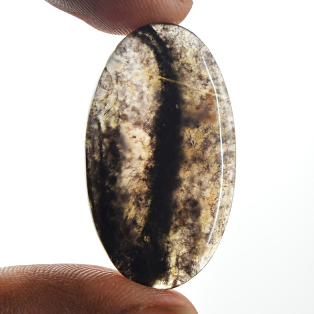Genuine 22.50 Cts Moss Agate Cab