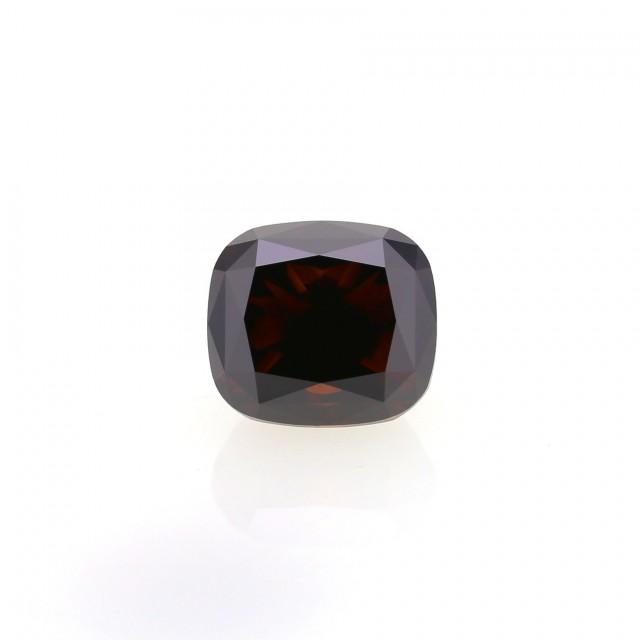 4.10 ct. Natural Fancy Dark Orangy Brown Flawless Cushion shape Diamond, AI