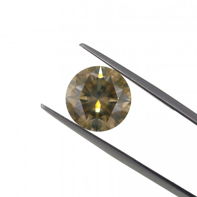 6.04 ct. Natural Fancy Greenish Yellow Round Brilliant Cut shape Diamond, A