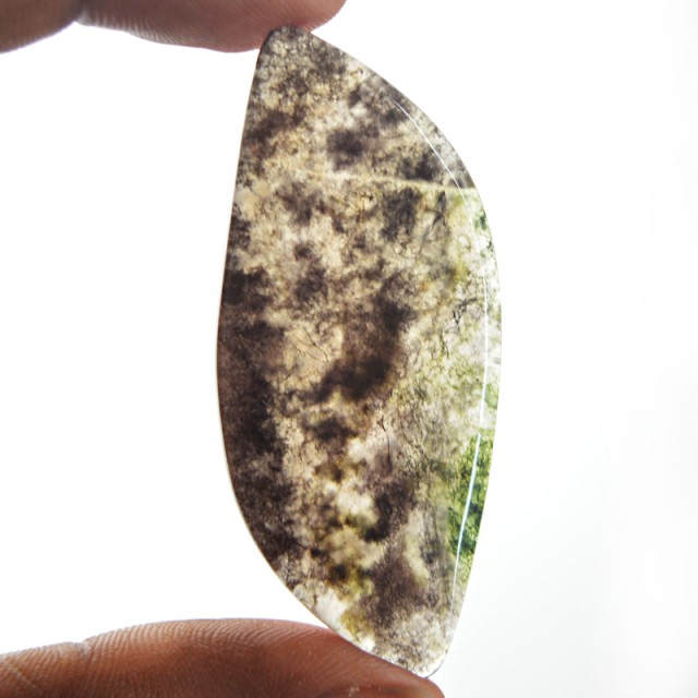 Genuine 41.00 Cts Moss Agate Cab