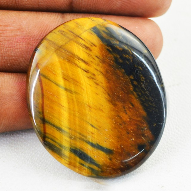 Genuine 58.50 Cts Untreated Golden Tiger Eye Cab