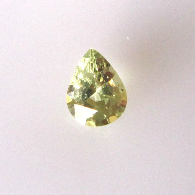 0.91cts Natural Australian Yellow Parti Sapphire Pear Shape