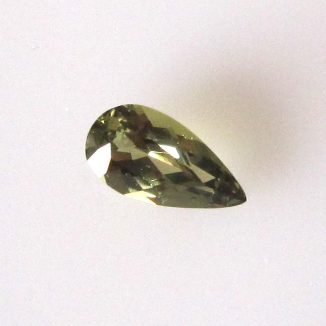 0.58cts Natural Australian Green Sapphire Pear Shape