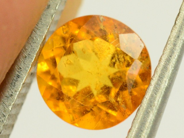 0.50 ct Extremely Rare Full Fire Orange Clinohumite