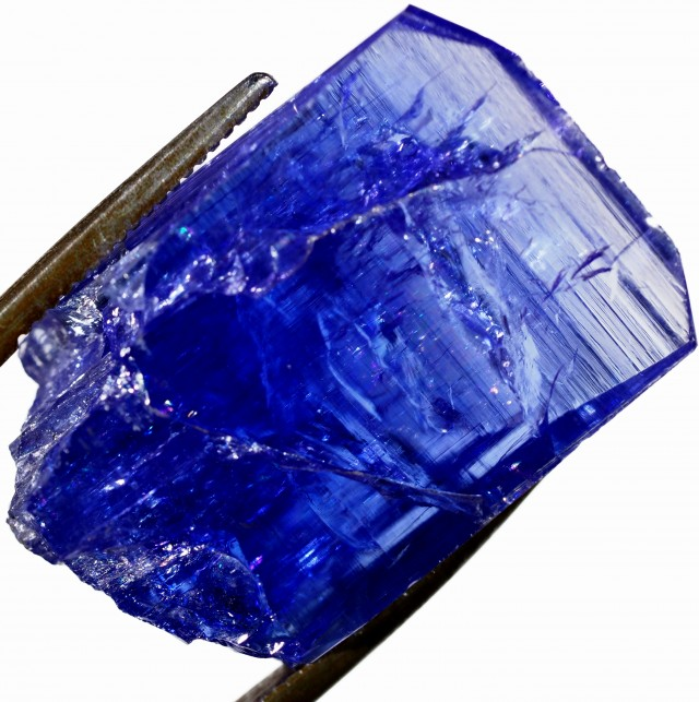 33.25 CTS QUALITY TANZANITE CRYSTAL SPECIMEN  [STS697]SAFE