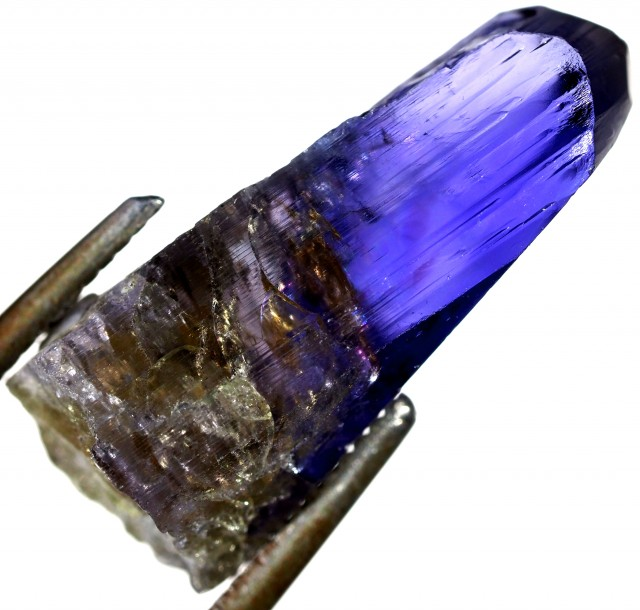 12 CTS QUALITY TANZANITE CRYSTAL SPECIMEN  [STS701]SAFE