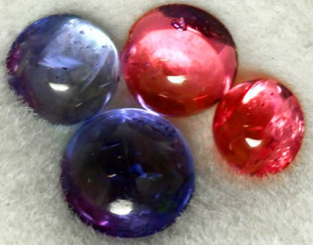 0.95 CTS MIXED CABS - TANZANITE SPINEL - [ST8685]