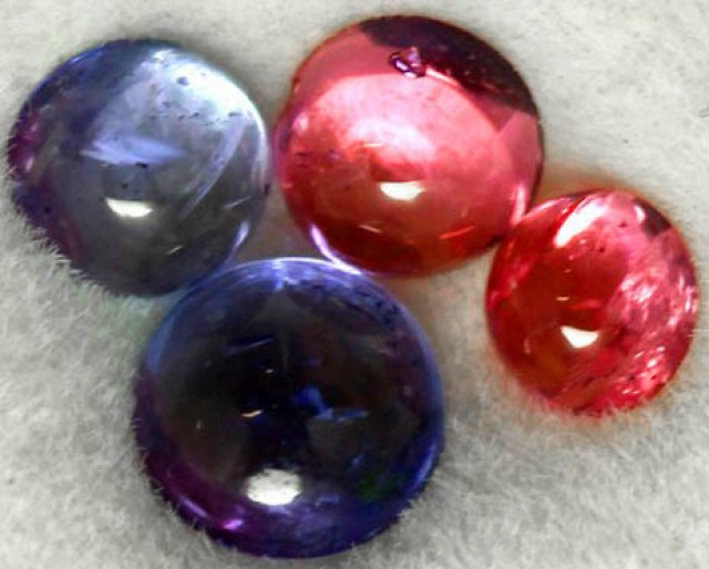 0.92 CTS MIXED CABS - TANZANITE SPINEL - [ST8680]
