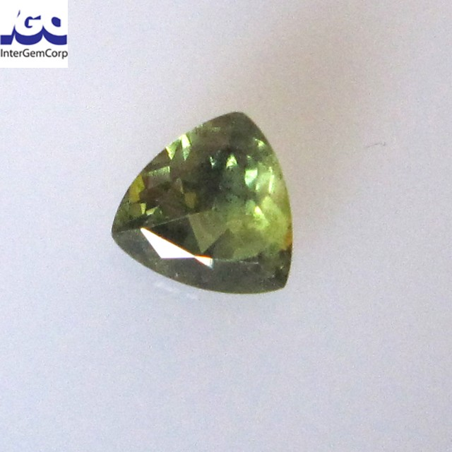 0.80cts Natural Australian Yellow/Blue Parti Sapphire Trillion Shape