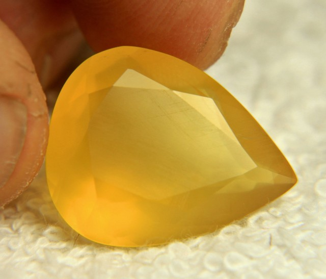 14.7 Carat Vibrant Yellow Mexican Fire Opal - Beautiful
