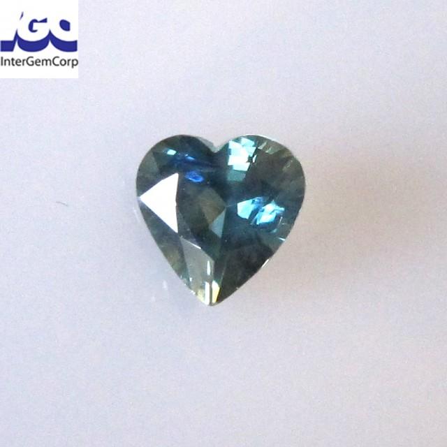 1.05cts Natural Australian Blue Parti Sapphire Heart Shape