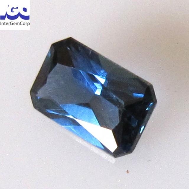 0.60cts Natural Australian Blue Sapphire Radiant Shape