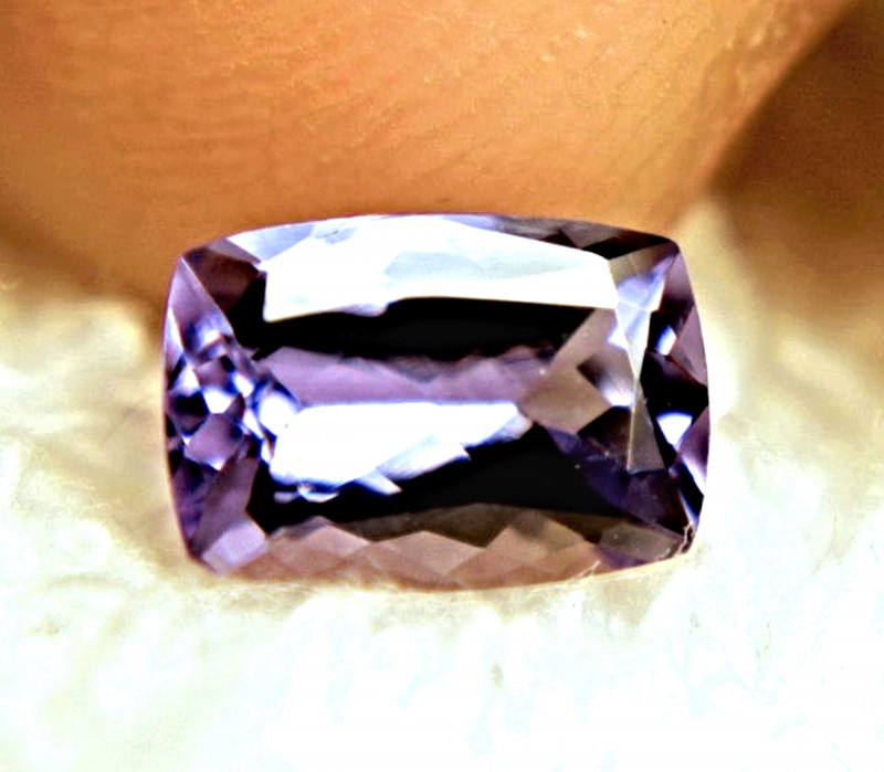 1.24 Carat Vibrant Purple / Blue VVS1 Tanzanite - Superb