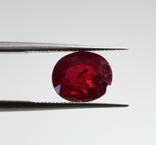 Natural Ruby - 1,66 carats - Gemstone