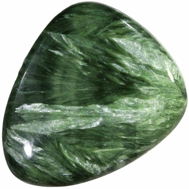 65.90 CTS SERAPHINITE-IRIDESCENCE LEAFY PATTERN  [STS727]