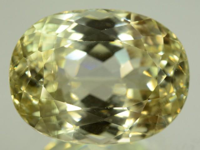 37 65 ct flowless greenish spodumene gemstone