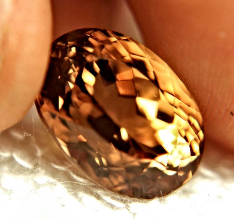 17.30 Carat Golden Amber Natural VVS Topaz - Gorgeous