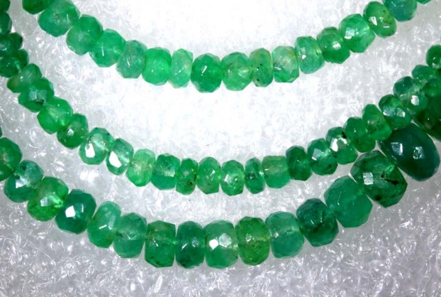 50CTS-16 INCH  EMERALD BEADS STRAND PG-2173