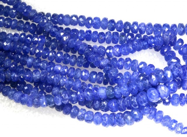 346CTS BLUE SAPPHIRE BEADS BUNCH 5-STRANDS  PG-2169