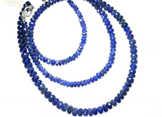 72.6CTS BLUE SAPPHIRE BEADS STRAND PG-2175