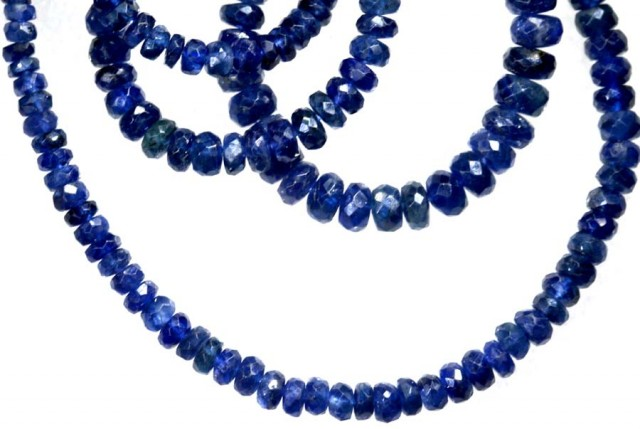 80.25CTS BLUE SAPPHIRE BEADS STRAND PG-2180