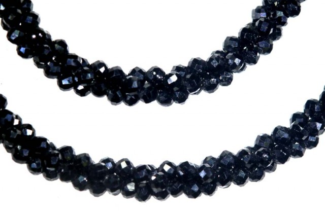 36CTS BLACK SPINEL BEADS STRAND PG-2161