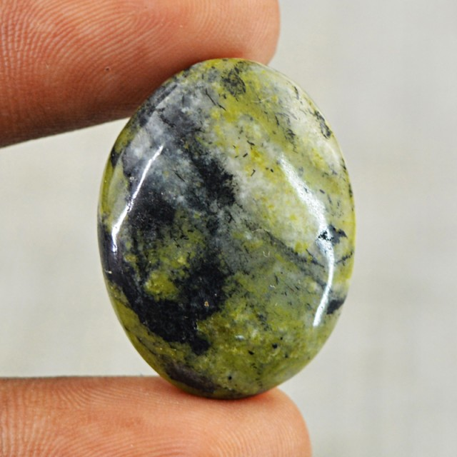 Genuine 25.50 Cts Oval Shape Forest Jasper Cab