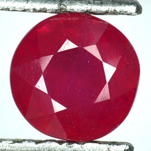 2.74 Cts Natural Blood Red Ruby Round Cut Thailand Gem