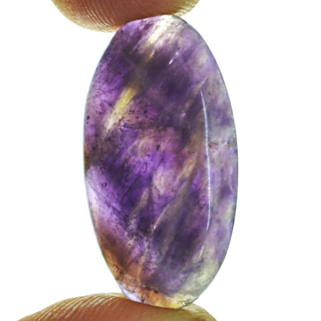 Genuine 22.50 Cts Oval Shape Purple Amethyst Cab