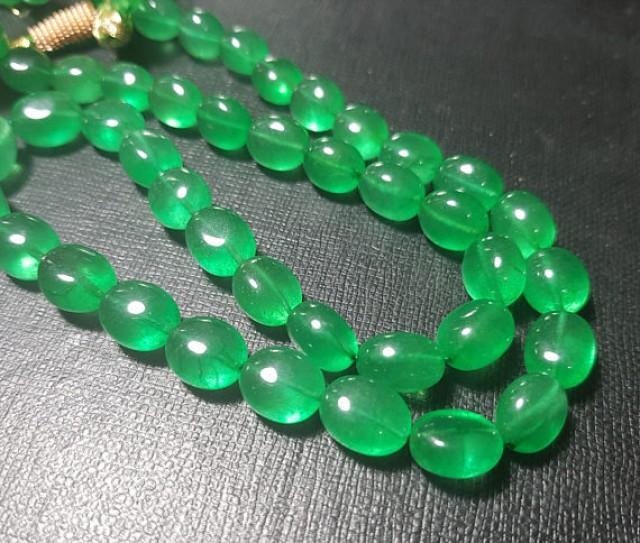 20 line 10 to 14mm green beryl tumble beads