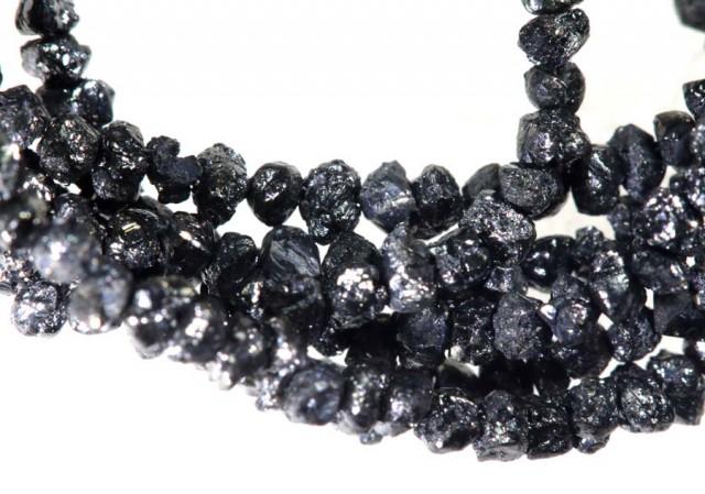 16.80 CTS METALLIC BLACK ROUGH DIAMOND STRAND SD-248