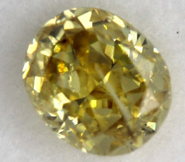 0.31CTS CERTIFIED LIGHT YELLOW DIAMOND FACETED SD-265