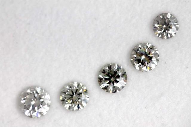 0.66CTS  GREY-BLUE DIAMONDS PARCEL 5PCS FACETED SD-269
