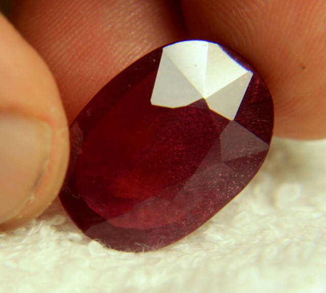 19.93 Carat Fiery Red Ruby - Superb