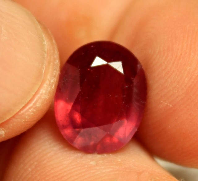 7.84 Carat Fiery Red Ruby - Superb