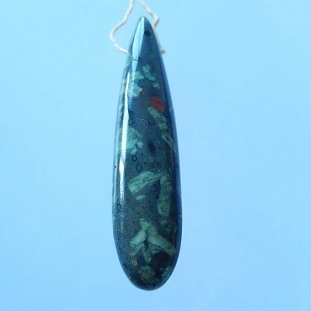 64.5ct Natural Plant Jasper Pendant Bead(17071017)